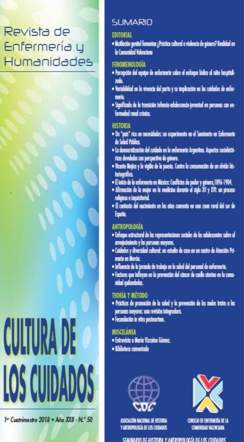 nº 50 Cultura de los Cuidados